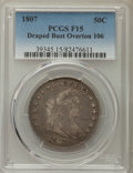 Early Half Dollars, 1807 50C Draped Bust, O-106, T-6, R.3, Fine 15 PCGS. PCGSPopulation: (2/6). NGC Census: (1/15). ...