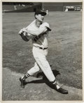 Baseball Collectibles:Photos, 1950's Ted Williams Original News Photograph, PSA/DNA Type 1....