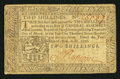 Colonial Notes:Pennsylvania, Pennsylvania April 10, 1777 2s Very Good-Fine.. ...