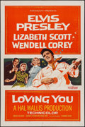 "Movie Posters:Elvis Presley, Loving You (Paramount, 1957). One Sheet (27"" X 41""). Elvis Presley.. ..."