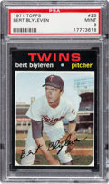 Baseball Cards:Singles (1970-Now), 1971 Topps Bert Blyleven #26 PSA Mint 9....