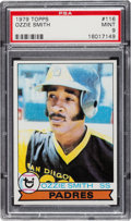 Baseball Cards:Singles (1970-Now), 1979 Topps Ozzie Smith #116 PSA Mint 9....