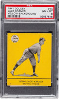Baseball Cards:Singles (1940-1949), 1941 Goudey Jack Kramer (Yellow) #14 PSA NM-MT 8 - Pop One, None Higher! ...