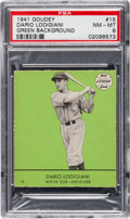 Baseball Cards:Singles (1940-1949), 1941 Goudey Dario Lodigiani (Green) #15 PSA NM-MT 8 - The HighestGraded Example! ...
