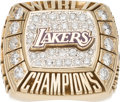 Basketball Collectibles:Others, 2000 Los Angeles Lakers NBA Championship Ring (Presented to KobeBryant's Bodyguard - With Original Wooden Box. ...