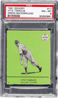 Baseball Cards:Singles (1940-1949), 1941 Goudey Vito Tamulius (Green) #17 PSA NM-MT 8 - Pop Two, None Higher. ...