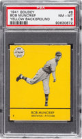 Baseball Cards:Singles (1940-1949), 1941 Goudey Bob Muncrief (Yellow) #8 PSA NM-MT 8 - Pop Two, NoneHigher. ...