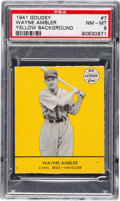 Baseball Cards:Singles (1940-1949), 1941 Goudey Wayne Ambler (Yellow) #7 PSA NM-MT 8 - Pop One WithNone Higher! ...