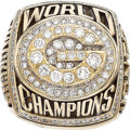 Football Collectibles:Others, 1996 Green Bay Packers Super Bowl Championship Ring Presented to RB Calvin Jones. ...
