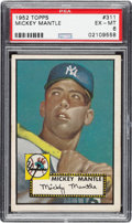 Baseball Cards:Singles (1950-1959), 1952 Topps Mickey Mantle #311 PSA EX-MT 6....
