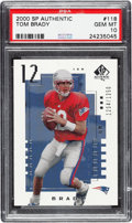 Football Cards:Singles (1970-Now), 2000 SP Authentic Tom Brady (#'d 1204/1250) #118 PSA Gem Mint 10....