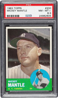 Baseball Cards:Singles (1960-1969), 1963 Topps Mickey Mantle #200 PSA NM-MT+ 8.5....