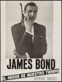 """James Bond: The Hero of Our Time (Ayma/C.B. Films-United Artists, 1965). Spanish Poster (19.75"""" X 26""""). James..."""