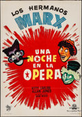 "Movie Posters:Comedy, A Night at the Opera & Other Lot (MGM, R-1960s). Spanish OneSheet (27.25"" X 39"") & Lobby Card Set of 8 (11"" X 14"").Comedy.... (Total: 9 Items)"