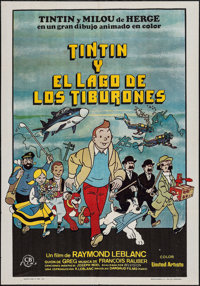 """Tintin and the Lake of Sharks (United Artists, 1974). Spanish One Sheet (27.25"""" X 39.25""""). Animation"""