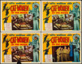 "Movie Posters:Science Fiction, Cat-Women of the Moon (Astor Pictures, 1954). Lobby Cards (4) (11""X 14""). Science Fiction.. ... (Total: 4 Item)"