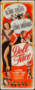 "Movie Posters:Musical, Doll Face (20th Century Fox, 1946). Insert (14"" X 36""). Musical.. ..."