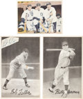 Autographs:Others, 1930's Baseball Stars Signed Premiums & Magazine Pages Lot of66....