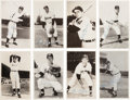 Autographs:Sports Cards, Signed 1957-58 Cleveland Indians Real Photo Post Cards Collection (32) With Maris! ...