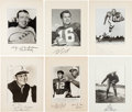 Football Collectibles:Photos, 1930's-70's Football Greats Signed Photograph Displays Lot of 10....