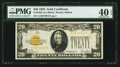 Small Size:Gold Certificates, Fr. 2402 $20 1928 Gold Certificate. PMG Extremely Fine 40 EPQ.. ...