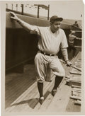 Baseball Collectibles:Photos, 1926 Babe Ruth Selecting Bat Original News Photograph, PSA/DNA Type1. ...