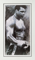 Boxing Collectibles:Autographs, Circa 2000 Muhammad Ali Signed Serigraph by Holland. ...