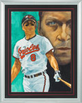 Baseball Collectibles:Others, 1990's Cal Ripken, Jr. Original Watercolor Painting by RickJackson....