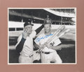 "Baseball Collectibles:Photos, 1990's Mickey Mantle Signed Oversized ""Triple Crown"" Photograph...."