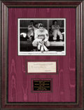Baseball Collectibles:Others, 1940 Babe Ruth Signed Check Display. ...