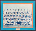 Baseball Collectibles:Photos, 1969 New York Mets Team Signed Oversized Photograph Display. ...
