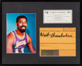 Basketball Collectibles:Others, 1990's Wilt Chamberlain Signed Los Angeles Lakers Court Display....