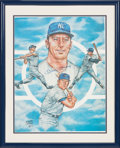 Baseball Collectibles:Others, 1983 Mickey Mantle Signed Lithograph....