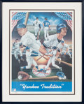 Baseball Collectibles:Others, 1987 Mickey Mantle and Don Mattingly Signed Lithograph....