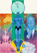 Original Comic Art:Covers, Dave Gibbons and John Higgins Watchmen Les Gardiens (French Edition) #2 Cover Painting Dr. Manhattan Original Art ...