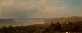 Paintings, Hermann Fuechsel (American, 1833-1915). A View From Mr. Henry Villard Villa at Dobbs Ferry, Hudson. Oil on board. 5 x 12...