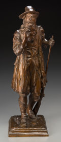 Sculpture, Daniel Chester French (American, 1850-1931). Rip Van Winkle, 1925. Bronze with brown patina. 18-1/4 inches (46.4 cm) hig...