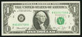 Error Notes:Ink Smears, Ink Smear on Back Error Fr. 1908-B $1 1974 Federal Reserve Note.Choice About Uncirculated.. ...