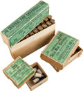 Ammunition, Lot of 3 Antique Sharps Rifle Ammunition Boxes by Winchester. ... (Total: 3 Items)
