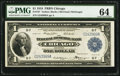 Fr. 727 $1 1918 Federal Reserve Bank Note PMG Choice Uncirculated 64