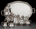Silver Holloware, French:Holloware, A Six-Piece Claude Doutre Roussel Silver Tea and Coffee Service, late 19th-early 20th century. Marks: (Mercury-1), (DR-dice-... (Total: 8 Items)