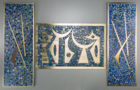 Three Sigfrido Pineda Mixed Metal and Mosaic Hardstone Plaques, Taxco, 20th century Marks: Sigi 19-1