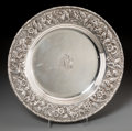 Silver Holloware, American:Platters, An S. Kirk & Son Inc. Silver Repoussé Serving Platter,Baltimore, Maryland, circa 1925-1932. Marks: S. KIRK & SONINC., ST...