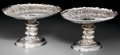 Silver Holloware, British:Holloware, A Large Pair of Walker & Hall Silver-Plated Repoussé Dessert Stands, Sheffield, England, circa 1900. Marks: (W&H flag), (ups... (Total: 2 Items)
