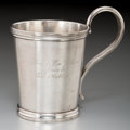 Silver Holloware, American:Southern Coin Silver , A Rare Bell & Brothers Coin Silver Mug, San Antonio, Texas,circa 1865. Marks: BELL & BRO'S, SAN ANTONIO, TEXAS. 4inche...