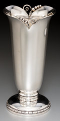 Silver Holloware, American:Vases, A Georg Jensen Inc. Silver Vase, New York, post-1945. Marks:GEORG JENSEN INC., STERLING, U.S.A., 201. 8 inches high(20...
