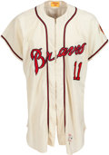 Baseball Collectibles:Uniforms, 1961 Milwaukee Braves Alternate Sample Jersey by Wilson....