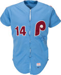 Baseball Collectibles:Uniforms, 1983 Pete Rose Game Worn Philadelphia Phillies Jersey with Team Letter. ...