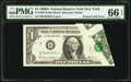 Error Notes:Foldovers, Fr. 1907-B $1 1969D Federal Reserve Note. PMG Gem Uncirculated 66EPQ.. ...