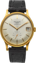 Timepieces:Wristwatch, Patek Philippe Ref. 3514 18k Gold Automatic Wristwatch. ...